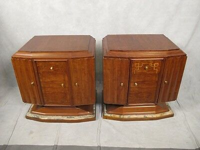 Beautiful RARE Antique Art Deco Pair of Nightstands - H11309