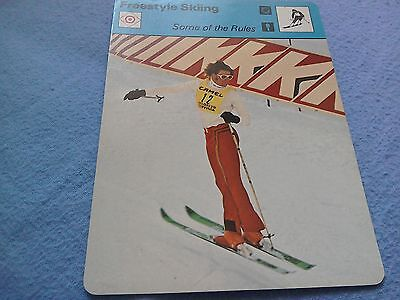 freestyle skiing some of the rules rare sports card