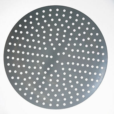 "8"" Aluminum Perforated Pizza / Baking Disks (Set of 10)"