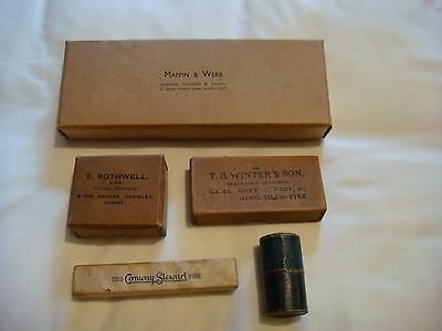 Various Vintage Empty Cardboard Boxes: Mappin & Webb / Dentistry / Opticians etc