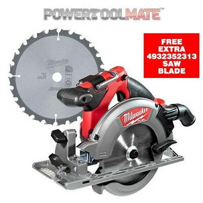 Milwaukee M18CCS55-0 18V Fuel Circular Saw (Body Only) & 4932352313 Saw Blade