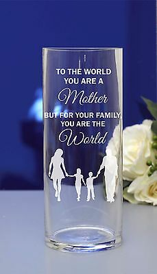 Personalised engraved flower vase.Mothers day/Birthday/Grandmother/Christmas