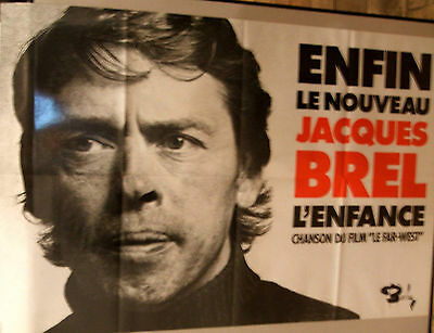 Jacques Brel original poster - Le Far West French movie 1973 on Barclay records