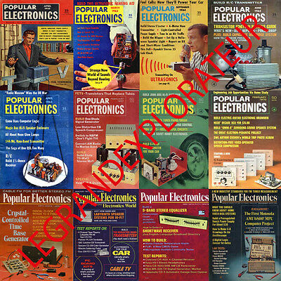 HUGE   465 Popular Electronics Magazine Collection    (465 PDF Magazines on DVD)