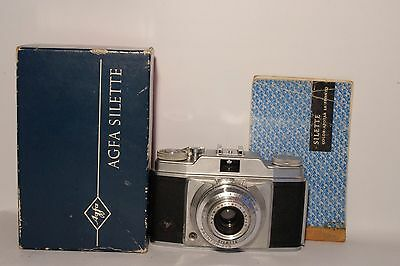 Agfa Silette (2) Camera 120 Film C 1957 + Instruct + Boxed Good Condition (Used)