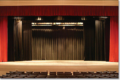 NEW Stage Curtain~ 11 x 30 NFR Black Backdrop~FREE SHIPPING~More Sizes
