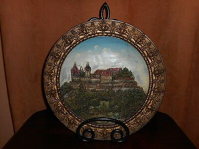 A W. Schiller & Son Wall Plaque Of The Veste Coburg Germany