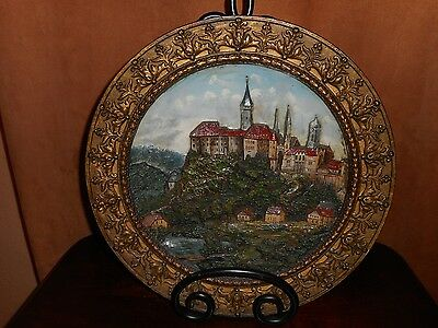A  W. Schiller & Son Wall Plaque Of The Hohenzollern Schloss Sigmaringen Germany