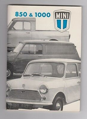 Mini 850 & 1000 Saloon Van Pick Up Vintage 1975 Handbook British Leyland 86 Page