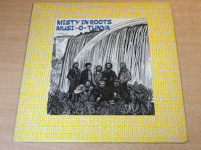 EX/EX !! Misty In Roots/Musi-O-Tunya/1985 People Unite LP + Inserts