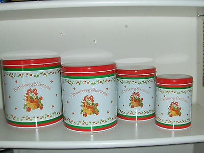 Strawberry Shortcake   Very Rare & Htf   * Limited Edition Canister Set *  Mint
