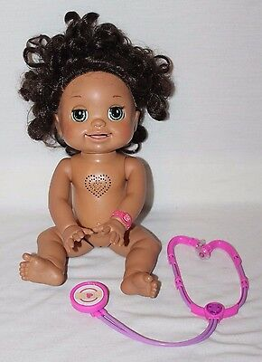 2009 Baby Alive Doll MY REAL BABY Soft Face TalksMoves RARE Brunette Interactive