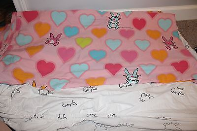 It's Happy Bunny Full Sheet Set Jim Benton Pink Fun Cartoon Comic Funny Silly