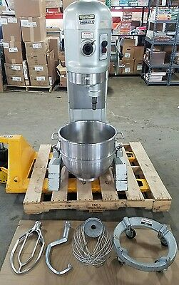 Hobart H600T 60 Quart 3 phase Mixer and accessories.