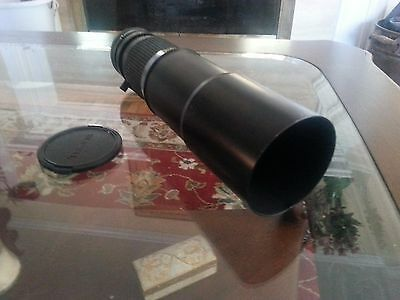 Tokina RMC 400mm F/5.6 Manual Focus Lens. Great condition. Canon FD mount.