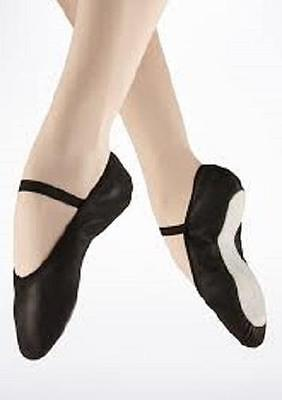 Ballet Shoes ALL Sizes BLACK Leather Full Split Sole Class LOTS AVAILABLE