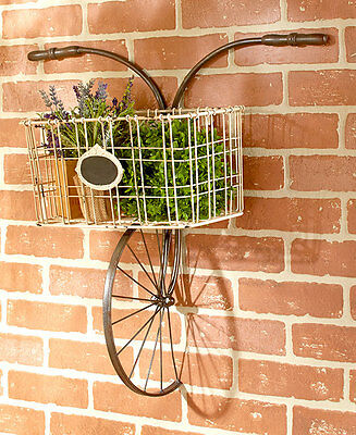 Shabby Vintage Chic Wall Decor Bicycle Rack Plaque Metal Wall Art