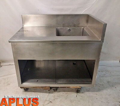 """Stainless Steel Storage Cabinet With Sink 18"""" X 18"""" Bowl Size"""