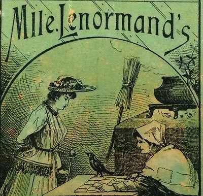 c1880 Mlle. Lenormand Fortune Telling Playing Cards Cartomancy Divination Deck