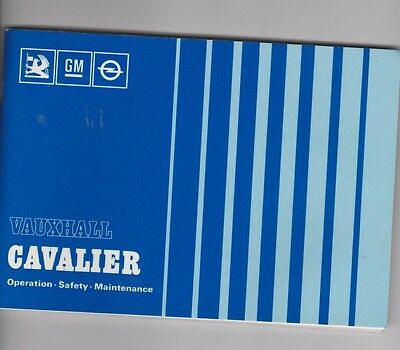 Vauxhall Cavalier Vintage 1983 Owner's Manual 118 Pages.