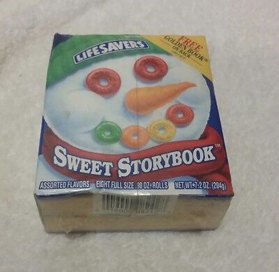 """Life Savers Roll Candy 1995 SWEET STORYBOOK """"Frosty Snowman"""" Golden Storybook"""