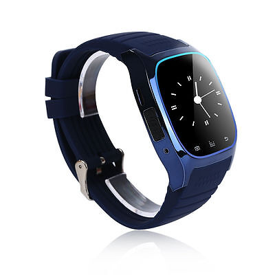 New Bluetooth Smart Watch For Android & IOS Devices Built in Mic & Speaker Blue
