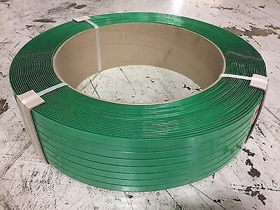 "5/8"" X .035 X 4000' Green Polyester Strapping"