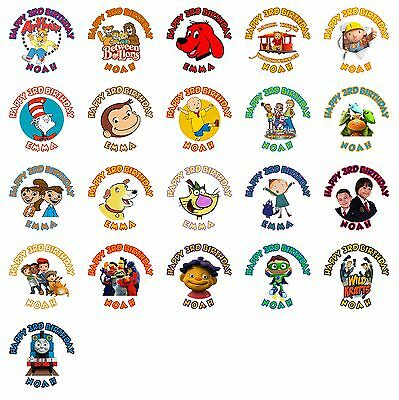 30 PBS Kids Birthday Stickers Lollipop Labels Party Favors 1.5 in YOU PICK