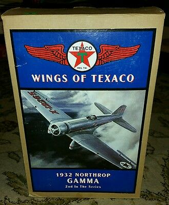 Brand New In Box Wings of Texaco Series 1932 Northrup Gamma Model Plane Bank!!