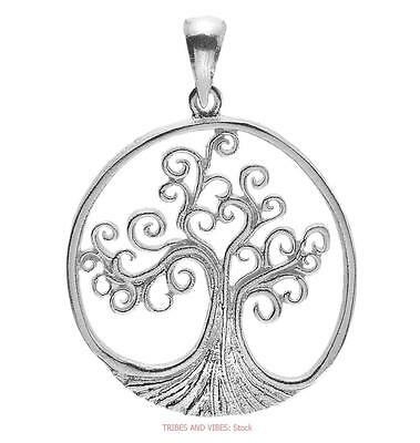Tree of Life Spirals Pendant 925 Sterling Silver Sea Gems Jewellery 23mm wide