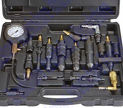 Diesel Compression Tester Tool Set 0-1000 PSI/0-70 Bar Gauge