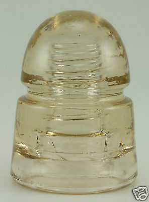 Cd 145 No Embossing Canadian Beehive Glass Insulator - Peach