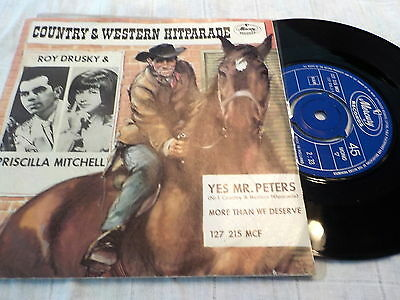 """7"""" - *Country* ROY DRUSKY & PRISCILLA MITCHELL - Yes,Mr.Peters *near mint NL"""
