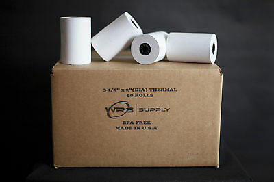 "50 Rolls of 3 1/8"" x 119' Thermal Paper Rolls for Credit Card Terminals"