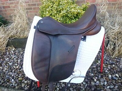 17.5″  Changeable Gullet Bates Isabel Werth Dressage Saddle – Brown