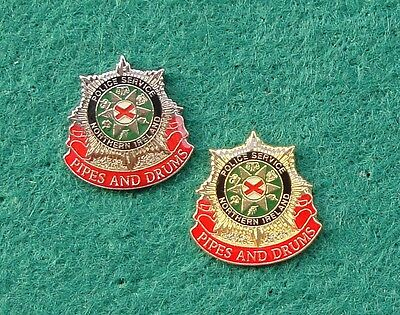 PSNI Police Service of Northern Ireland PIPES & DRUMS tie tac pin badges