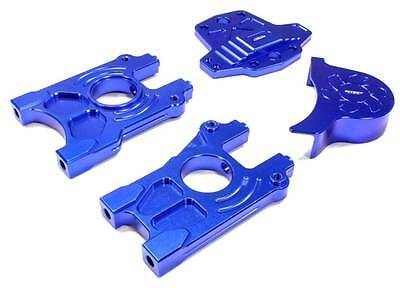 INTEGY Blue Billet Machined Alloy Center Differential Mount Set for Losi 5ive-T