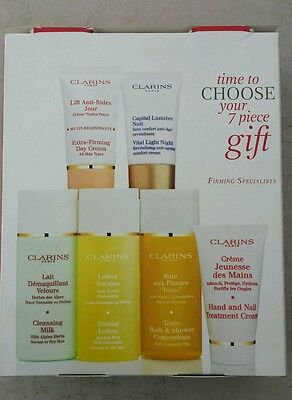 Clarins firming specialist 7 piece gift set .100% authentic.