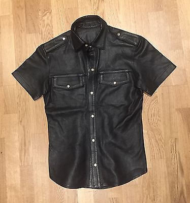 Soft Leather Men's Shirt Medium