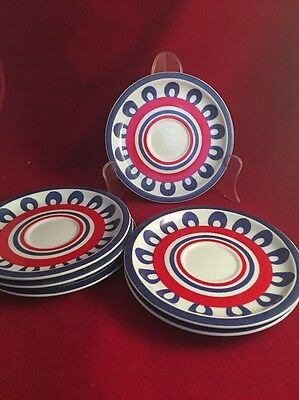 Set Of 7 Hearthstone China Block Chili Saucers