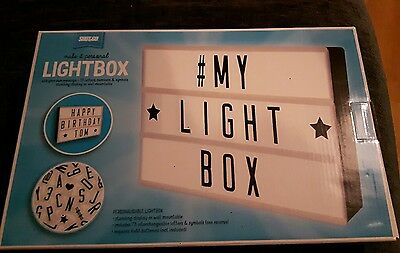 Light box sign & letters