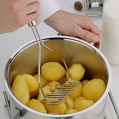 New Kitchen Stainless Steel Potato Egg Masher Ricer Vegetable Fruit Crusher Tool
