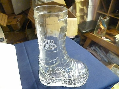 Vintage Wild Turkey Whiskey Boot Campaign Drinking Glass Near Mint Condition Old