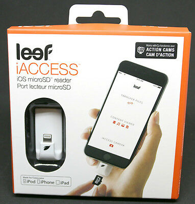 Leef iAccess IOS Micro SD Card Reader - White * NEW SEALED