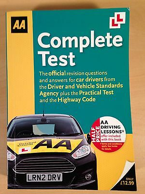 Complete Test: AA Driving All 960 Official Theory Questions Paperback Book 2011