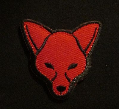 Fox Head Usa Army Morale Tactical Isaf Combat Military Black Ops/red Hook Patch