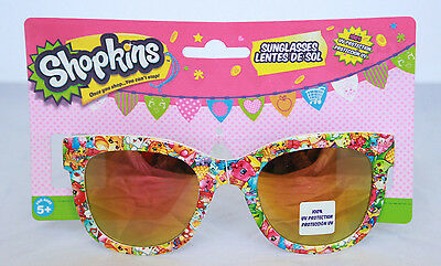 Shopkins Kids Sunglasses 100% UV Protection Girls Childrens Mirror Lenses Age 5+