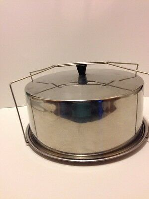 Vintage Stainless Steel Cake Carrier