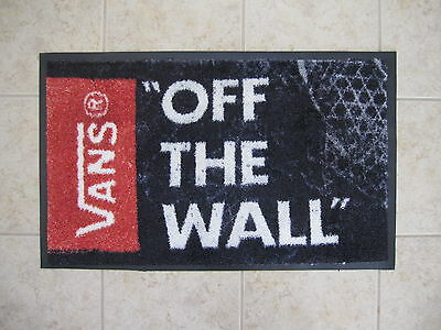 """Vans Shoes Skate Surf Snow Shop Display """"OFF THE WALL""""  FLOOR MAT  301/2"""" X 19"""""""