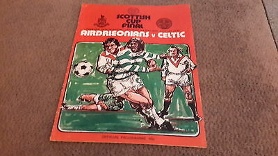 Football programme celtic v airdrie 1975 scottish cup final